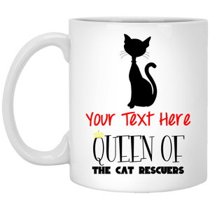 Personalized Queen Of The Cat Rescuers - Mugs Rescuers Club