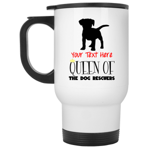 Personalized Queen Of The Dog Rescuers - Mugs Rescuers Club