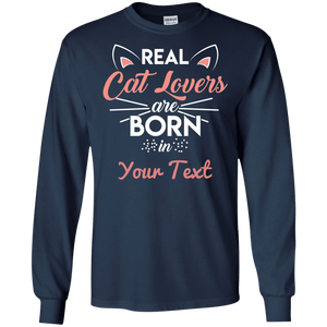Personalized Real Cat Lovers - Long Sleeve T Shirt Rescuers Club