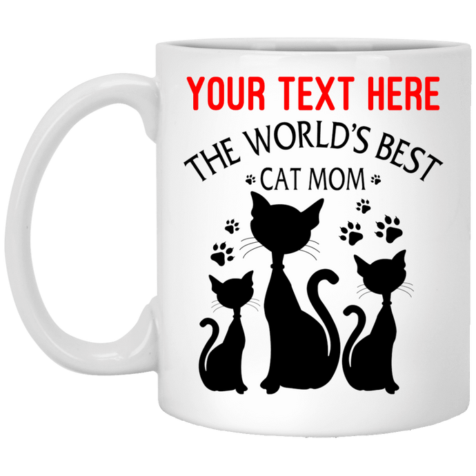 Personalized World's Best Cat Mom - Mugs Rescuers Club