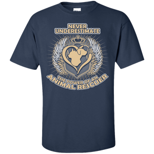 Power Of An Animal Rescuer - T Shirt Rescuers Club