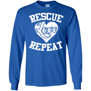 Rescue Love Repeat - Long Sleeve T Shirt Rescuers Club