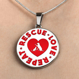 Rescue Love Repeat - Pendant Rescuers Club
