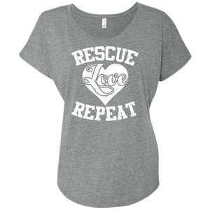 Rescue Love Repeat - Slouchy Tee Rescuers Club