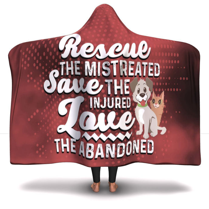 Rescue Save Love - Hooded Blanket Rescuers Club