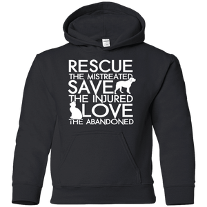 Rescue Save Love - Youth Hoodie Rescuers Club