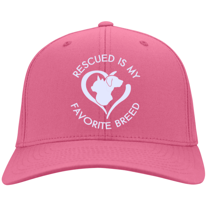 Rescued Is My Favorite Breed Embroidered Baseball Cap Rescuers Club