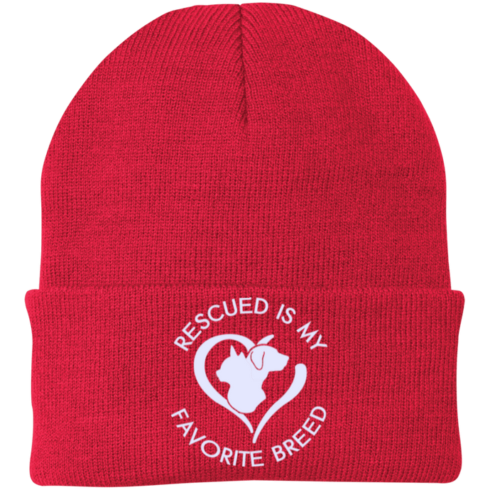 Rescued Is My Favorite Breed Hat Rescuers Club