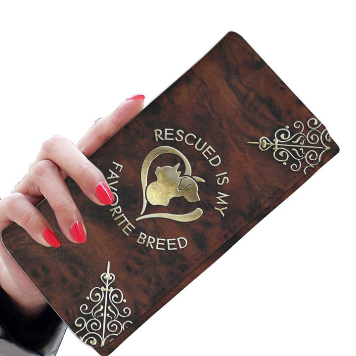 Rescued Is My Favorite Breed - Ladies Wallet/Purse Rescuers Club