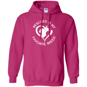 Rescued Is My Favorite Breed Logo - Hoodie Rescuers Club