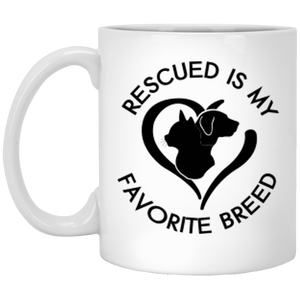Rescued Is My Favorite Breed Logo - Mugs Rescuers Club