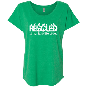 Rescued Is My Favorite Breed - Slouchy Tee Rescuers Club