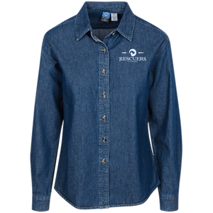 Rescuers Club Official Embroidered Ladies Denim Shirt Rescuers Club
