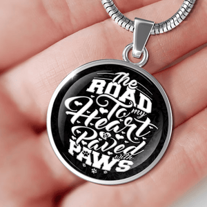 Road To My Heart Paved With Paws - Pendant Rescuers Club