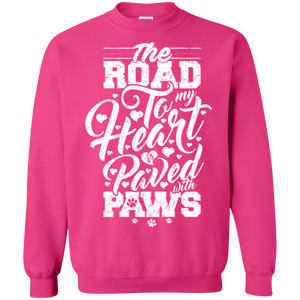 Road To My Heart Paved With Paws - Sweatshirt Rescuers Club