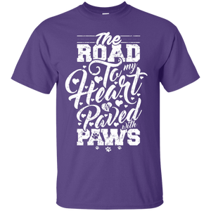 Road To My Heart Paved With Paws - T Shirt Rescuers Club