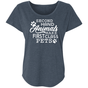 Second Hand Animals - Slouchy Tee Rescuers Club