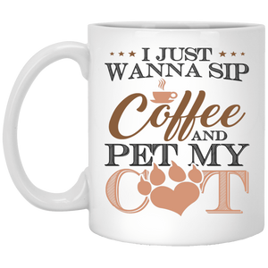 Sip Coffee Pet Cat - Mugs Rescuers Club