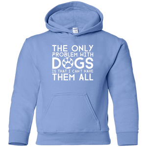 The Only Problem With Dogs - Youth Hoodie Rescuers Club