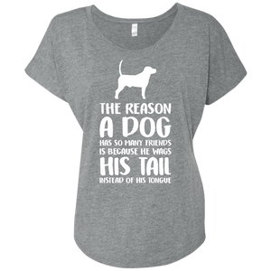 The Reason A Dog Has So Many Friends - Slouchy Tee Rescuers Club
