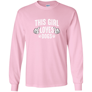 This Girl Loves Dogs - Long Sleeve T Shirt Rescuers Club