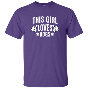 This Girl Loves Dogs - T Shirt Rescuers Club