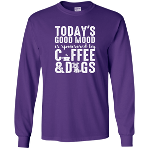 Today's Good Mood Coffee & Dogs- Long Sleeve T Shirt Rescuers Club
