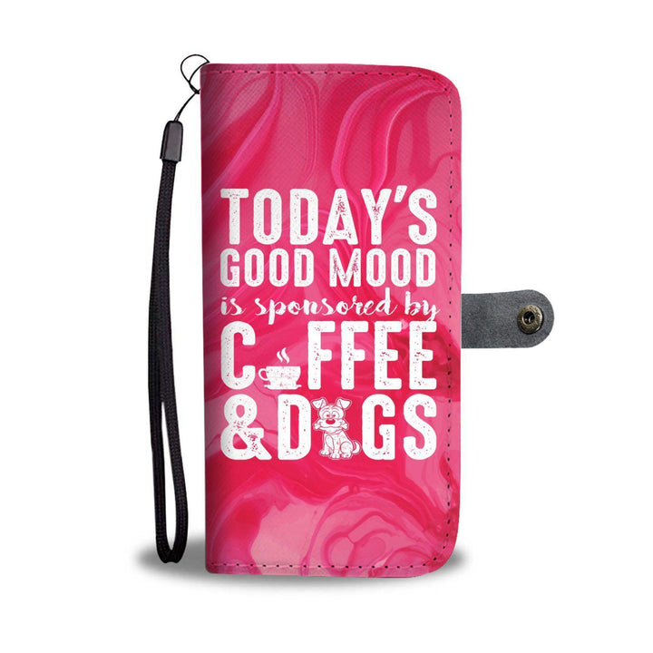 Today's Good Mood Coffee & Dogs - Wallet Phone Case Rescuers Club