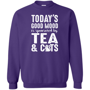 Today's Good Mood Tea & Cats - Sweatshirt Rescuers Club