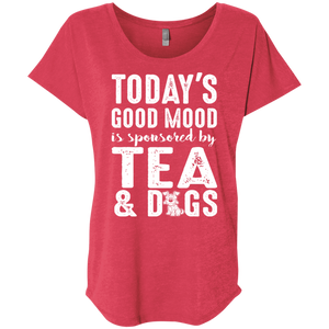 Today's Good Mood Tea & Dogs - Slouchy tee Rescuers Club