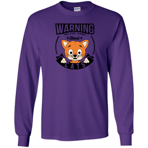 Warning May Start Talking About Cats - Long Sleeve T Shirt Rescuers Club