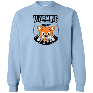 Warning May Start Talking About Cats - Sweatshirt Rescuers Club