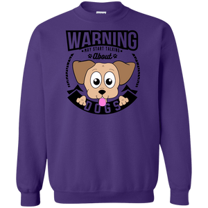 Warning May Start Talking About Dogs - Sweatshirt Rescuers Club