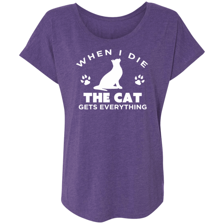 When I Die The Cat Gets Everything - Slouchy Tee Rescuers Club