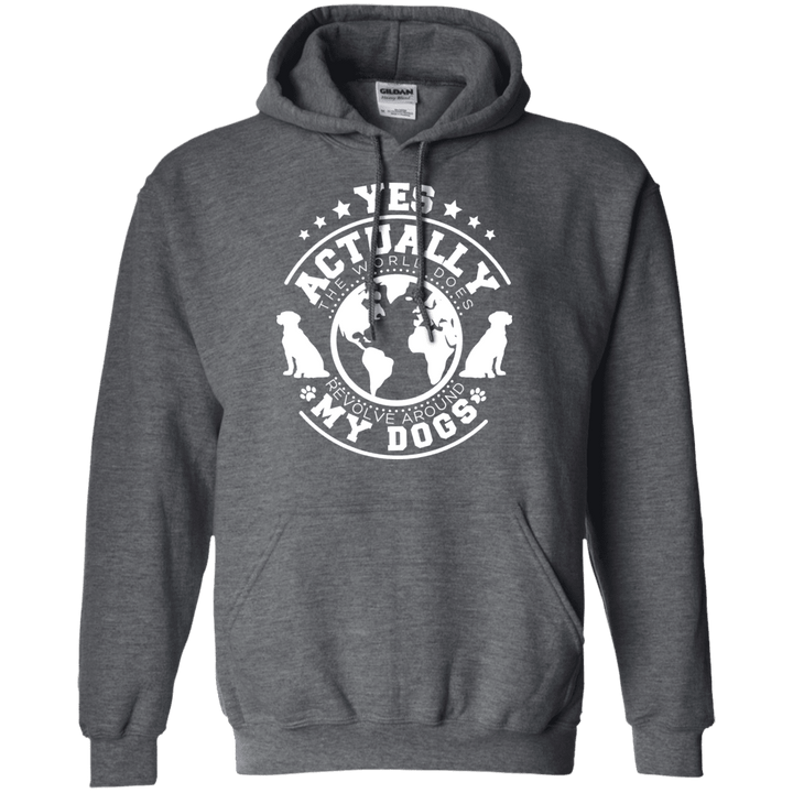 World Revolves Around My Dog - Hoodie Rescuers Club