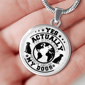 World Revolves Around My Dogs - Pendant Rescuers Club