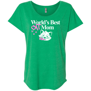 World's Best Cat Mom - Slouchy Tee Rescuers Club