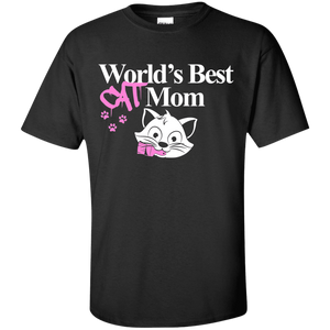 Worlds Best Cat Mom - T Shirt Rescuers Club