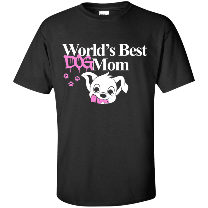 Worlds Best Dog Mom - T Shirt Rescuers Club