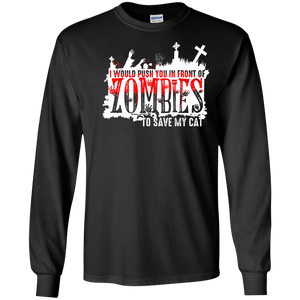 Zombies Cat - Long Sleeve T Shirt Rescuers Club