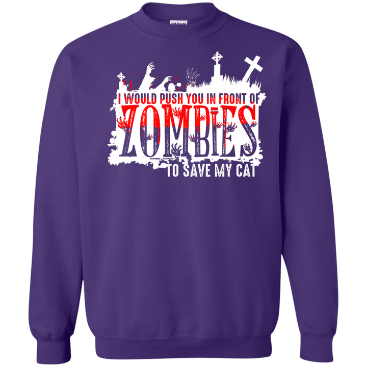 Zombies Cat - Sweatshirt Rescuers Club