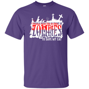 Zombies Cat - T Shirt Rescuers Club