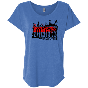 Zombies Dog - Slouchy Tee Rescuers Club