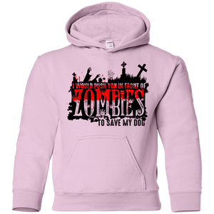 Zombies Dog - Youth Hoodie Rescuers Club