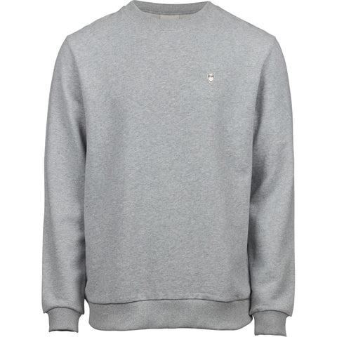 Knowledge Cotton Apparel ELM small owl sweat Sweat 1012 Grey Melange
