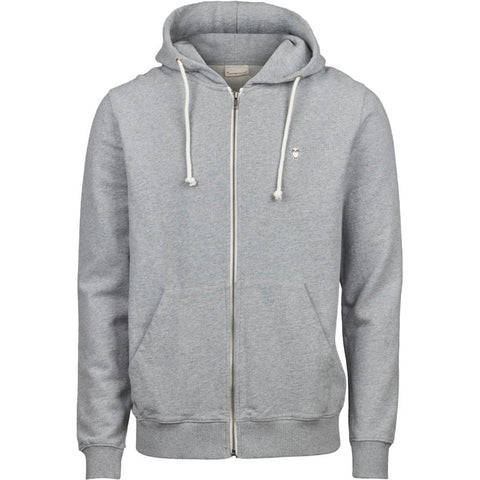 Knowledge Cotton Apparel ELM small owl zip hoodie sweat Sweat 1012 Grey Melange
