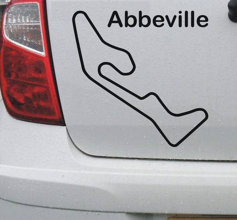 Abbeville - French race circuit vinyl decal sticker graphic - Enhance With Vinyl