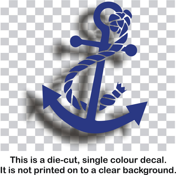 Anchor decal #1 - naval nautical maritime car vinyl sticker - Enhance With Vinyl