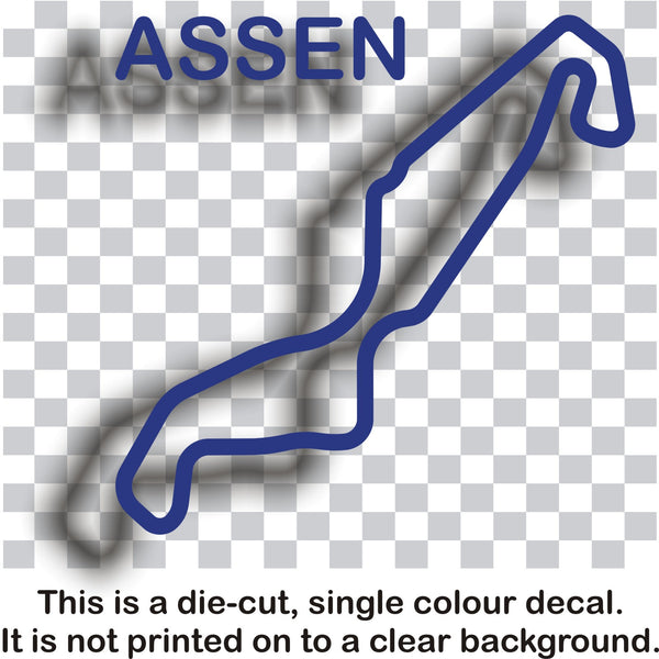 Assen TT - Dutch race circuit vinyl decal sticker graphic - Enhance With Vinyl