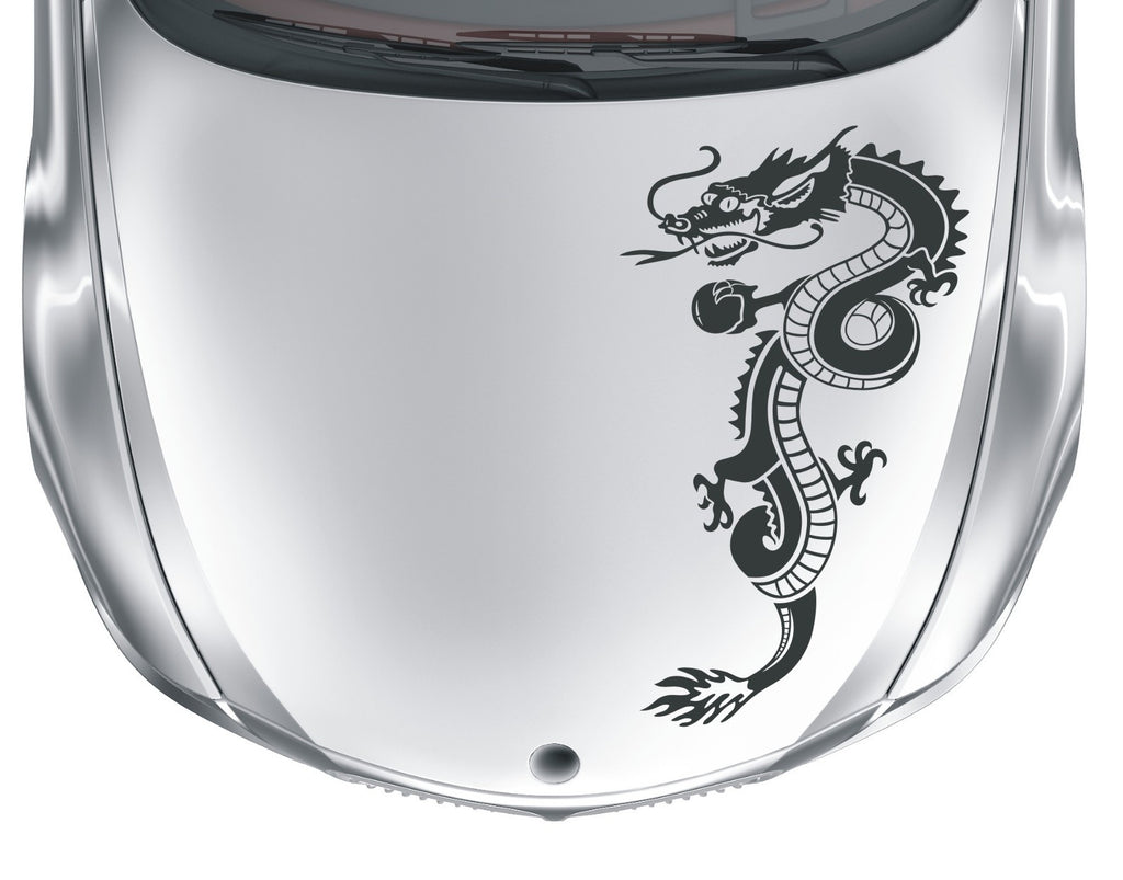 Dragon - tribal tattoo #1 - vinyl car bonnet wall sticker decal - Enhance With Vinyl